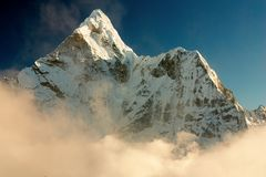 Evening view of Ama Dablam Stock Photography