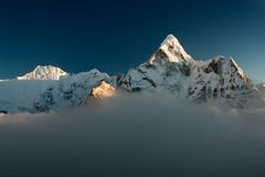 Evening view of Ama Dablam Royalty Free Stock Image