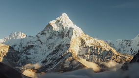Evening view of Ama Dablam on the way to Everest Base Camp - Nepal.  stock footage