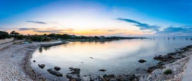 Evening view of amazing Sotorisce bay and beach Silba, Croatia stock photos
