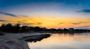 Evening view of amazing Sotorisce bay and beach Silba, Croatia royalty free stock photography