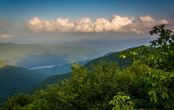 Evening view of the Appalachian Mountains from the Blue Ridge Pa Royalty Free Stock Image