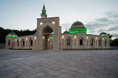 Evening view of Ar Rahma mosque Stock Images