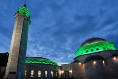 Evening view of Ar Rahma mosque Royalty Free Stock Photo