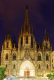 Evening view of Barcelona Cathedral Royalty Free Stock Image