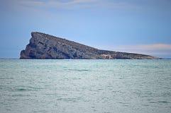 An Evening View Of Benidorm Island Stock Photography