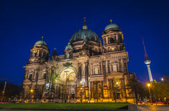 Evening view of Berlin Cathedral (Berliner Dom), Berlin, Germany Royalty Free Stock Photo
