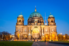 Evening view of Berlin Cathedral, Germany Stock Images