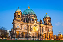 Evening view of Berlin Cathedral, Germany Stock Image