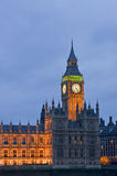 Evening view of Big Ben London Stock Photos