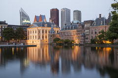Evening view on Binnenhof Palace Stock Photos