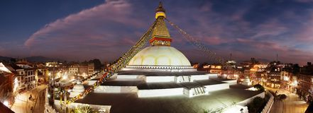 Evening view of Bodhnath stupa - Kathmandu Stock Image