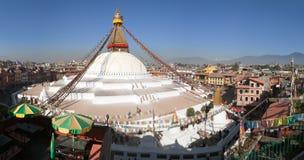 Evening view of Bodhnath stupa - Kathmandu Royalty Free Stock Images