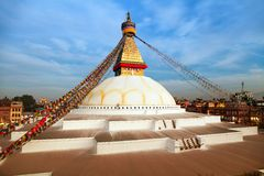 Evening view of Bodhnath stupa - Kathmandu - Nepal Royalty Free Stock Images