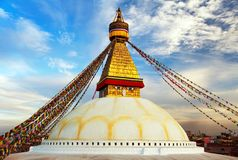Evening view of Bodhnath stupa - Kathmandu - Nepal Royalty Free Stock Photos