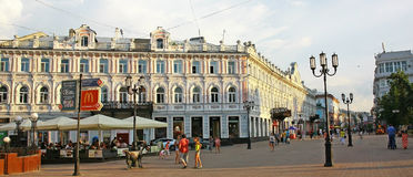 Evening view Bolshaya Pokrovskaya street Stock Images