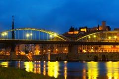 Evening view of Bridge  in Tortosa, Spain Stock Photo