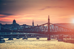 Evening view on Budapest Royalty Free Stock Photo