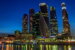 Business center Moscow City evening view. Evening view of Business center Moscow City royalty free stock photos