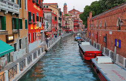 Evening view on the canal in Venice Royalty Free Stock Photos