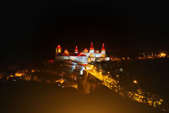 Evening view of the castle Kamyanets-Podilsky Royalty Free Stock Images