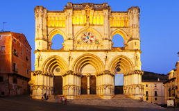 Evening view of Cathedral in  Cuenca Stock Photo