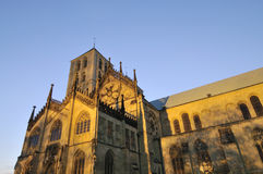 Evening view of the Cathedral in M�uenster Stock Photography