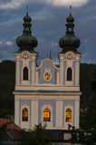 Evening view of the Cathedral of the Virgin Mary. Stock Photos