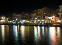 Evening View of the Chania city Royalty Free Stock Image