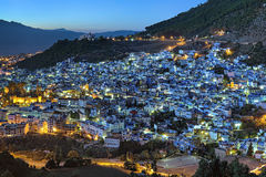 Evening view of Chefchaouen, Morocco Stock Image