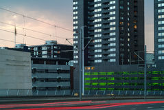Evening view at the city center of Rotterdam Stock Images