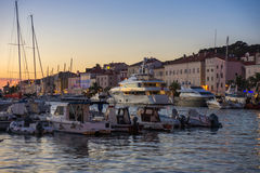 Evening View of the city Mali Losinj Stock Image