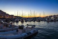 Evening View of the city Mali Losinj Royalty Free Stock Images