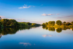 Evening view of Duck Creek in Essex, Maryland. Evening view of Duck Creek in Essex, Maryland Stock Image