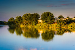 Evening view of Duck Creek in Essex, Maryland. Evening view of Duck Creek in Essex, Maryland Stock Images