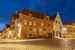 Evening view of the Dutch historic city centre of Deventer Stock Photo