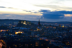 Evening view of Edinburgh Royalty Free Stock Image