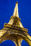 Evening View of Eiffel Tower Stock Photos