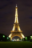 Evening View of Eiffel Tower Royalty Free Stock Photo