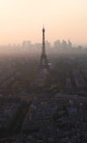 Evening view on Eiffel tower in Paris, France Royalty Free Stock Photo