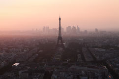 Evening view on Eiffel tower in Paris, France Stock Photography