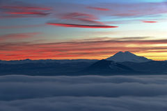 Evening View of Elbrus. Royalty Free Stock Photo