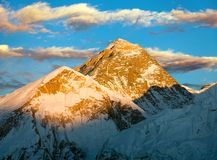 Evening view of Everest from Kala Patthar Royalty Free Stock Photo