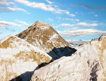 Evening view of Everest from Kala Patthar Stock Images