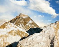 Evening view of Everest from Kala Patthar Royalty Free Stock Photography