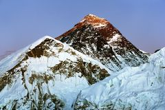 Evening view of Everest from Kala Patthar Royalty Free Stock Photos