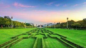 Lisbon, Portugal. Evening view fo Eduardo Park in Lisbon, Portugal stock photography