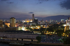 Evening view of Georgetown, Penang, Malaysia Royalty Free Stock Photography
