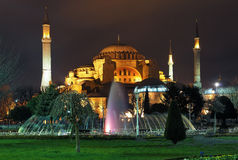 Evening view of the Hagia Sophia in Istanbul Royalty Free Stock Images