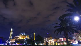 Evening view of the Hagia Sophia in Istanbul, Turkey. stock footage